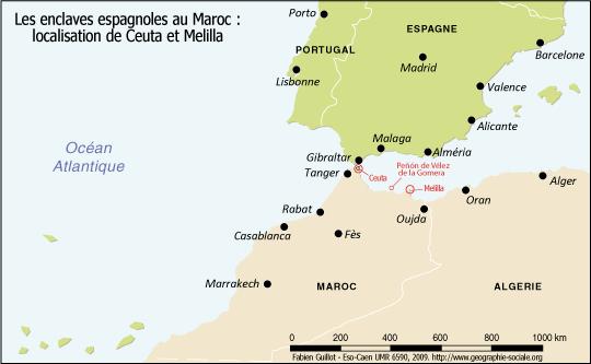 Frontière Maroc   Espagne : asymétries frontalières