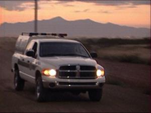 voiture de patrouille des Border Patrol la frontière entre le Mexique et les Etats-Unis