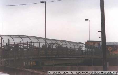 Pont sur la frontière reliant le Mexique aux Etats-Unis